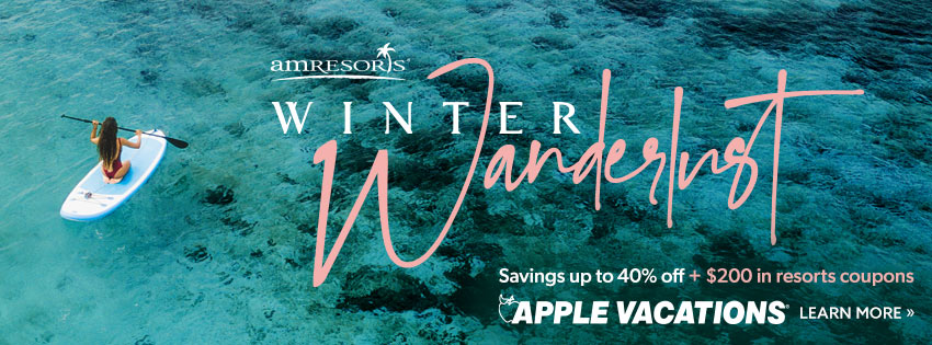 AMREsorts Winter Wanderlust Savings up to 40% off Plus $200 in Resorts Coupons. Apple Vacations. Click to learn more.